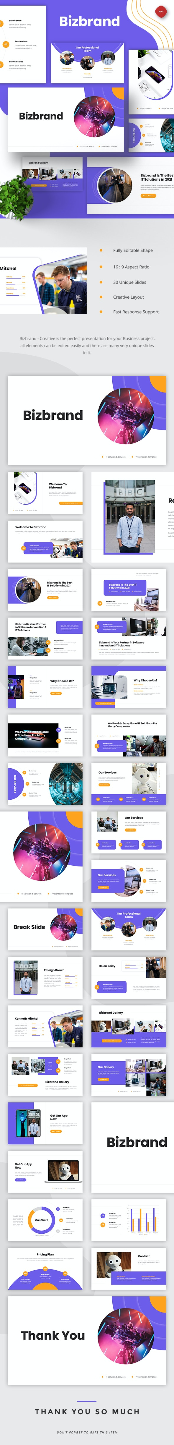 Bizbrand - IT Solutions & Services Powerpoint - Business PowerPoint Templates