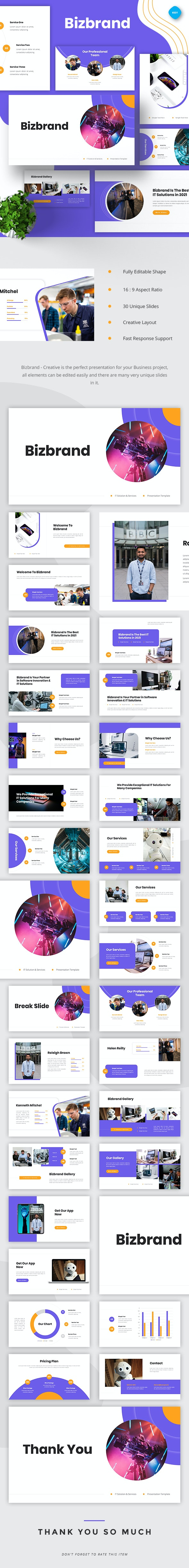 Bizbrand - IT Solutions & Services  Keynote - Business Keynote Templates