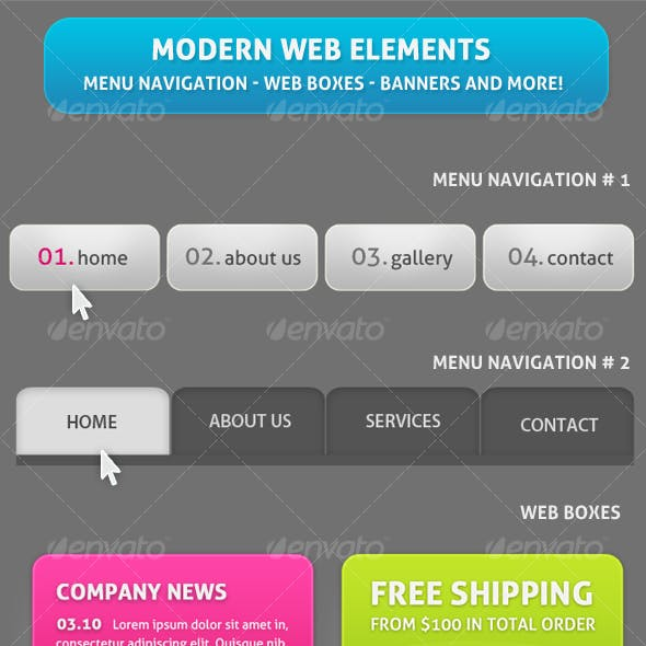 Differents Web Elements for your website !