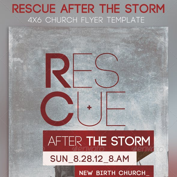 Rescue After The Storm Church Flyer Template