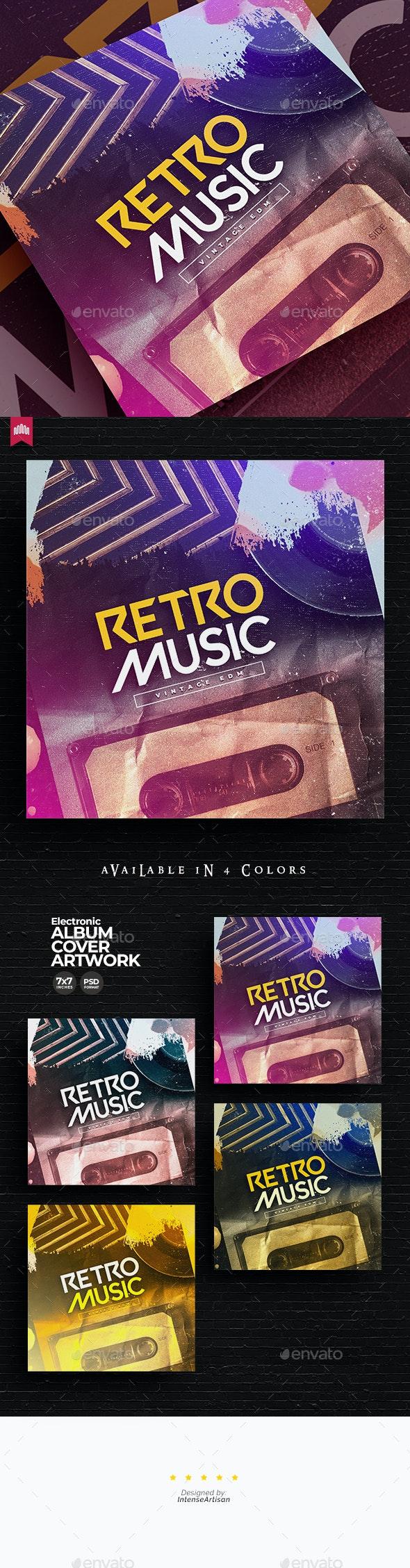 Retro Music Album Cover Artwork - Miscellaneous Social Media