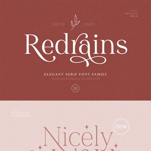 Redrains - Modern Serif Family