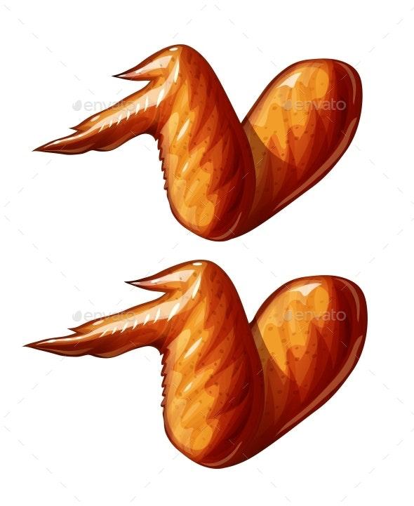 Chicken Wing. Fast-Food Food. Eps10 Vector Illustration. - Vectors