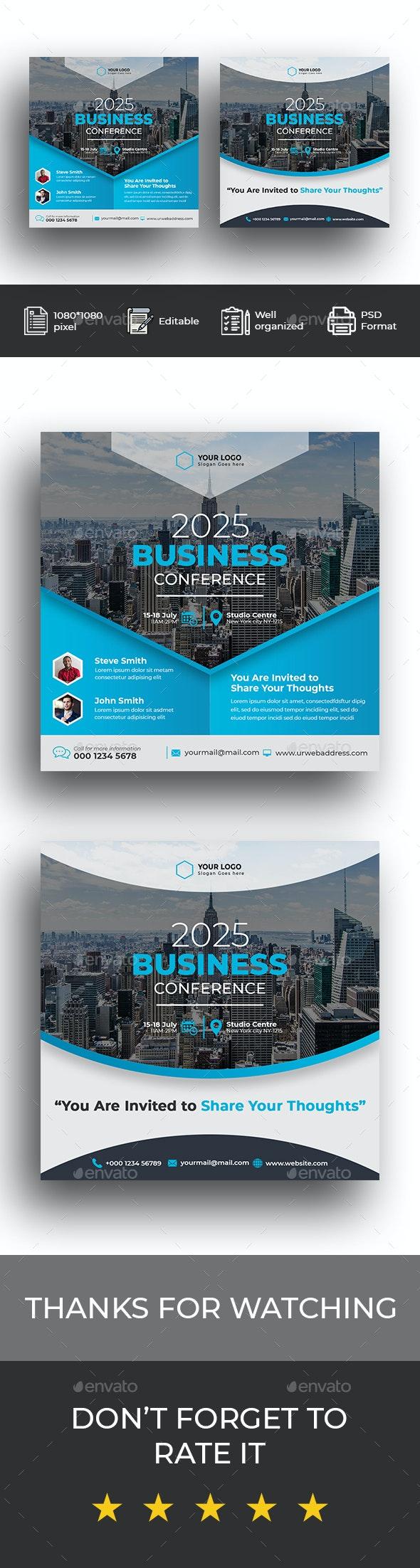 Business Conference Social Media Post - Social Media Web Elements