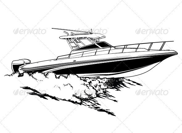 Speed Boat - Objects Vectors