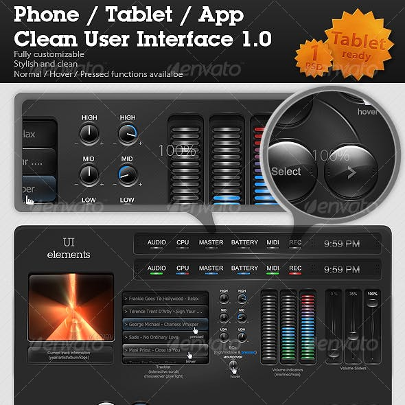 Phone / Tablet / App Clean User Interface