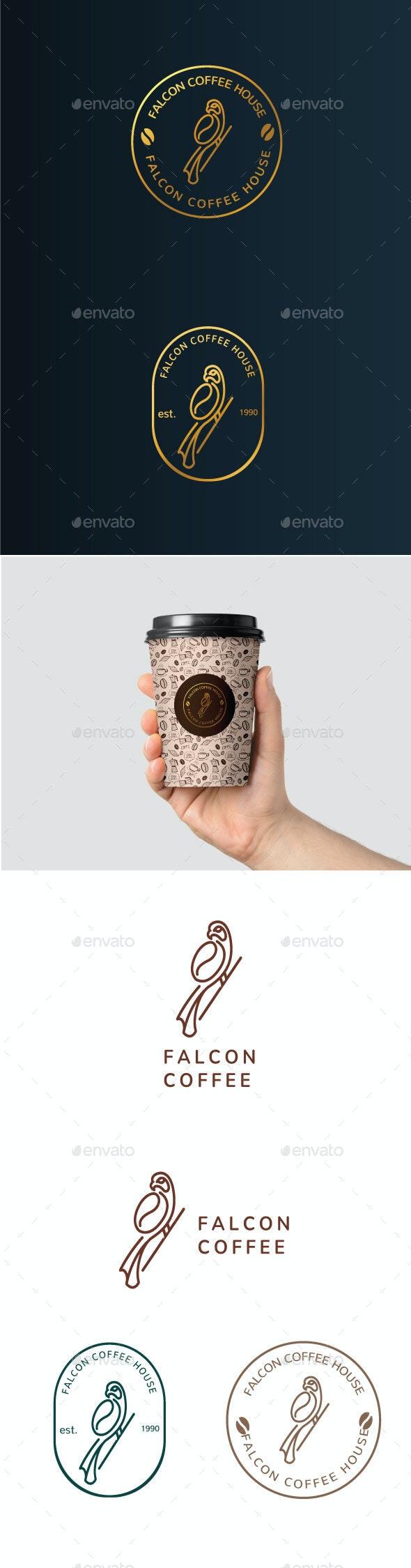 Falcon Coffee Logo - Food Logo Templates
