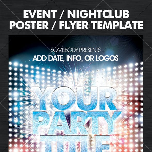 Flashy Nightclub / Event Poster-Flyer