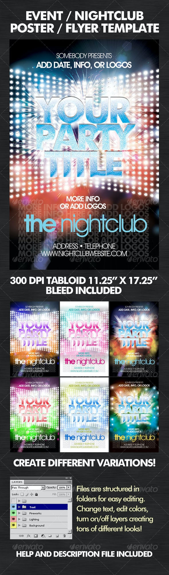 Flashy Nightclub / Event Poster-Flyer - Clubs & Parties Events