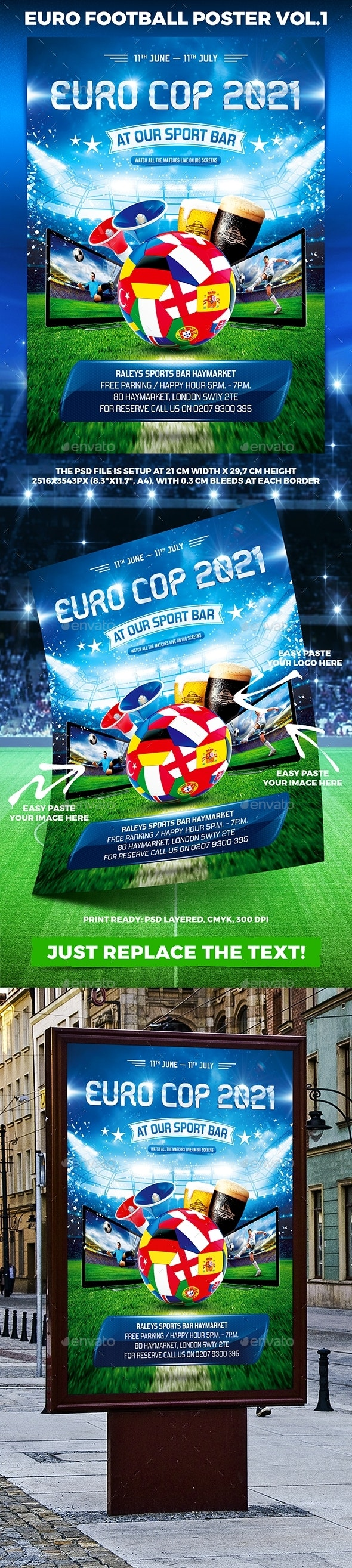 Euro 2021 Poster vol.1 - Sports Events