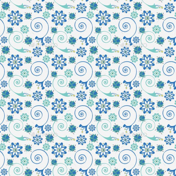 Blue Flower Surface Pattern