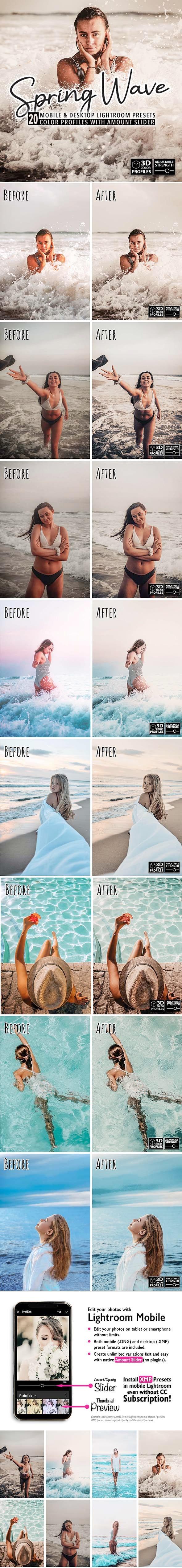 20 Spring Wave Lightroom Presets - Lightroom Presets Add-ons