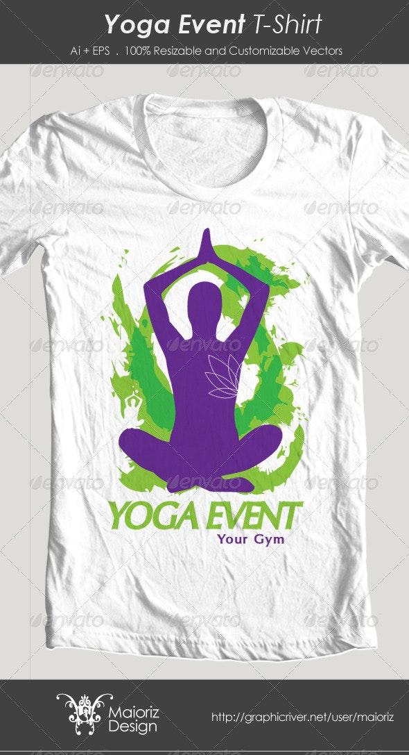 Yoga Event Tshirt - Events T-Shirts