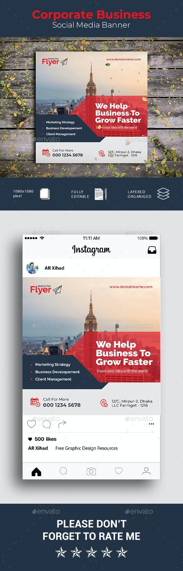 Corporate Business Social Media Banner - Social Media Web Elements