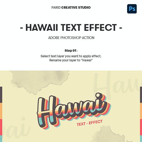 Hawaii Text Effect
