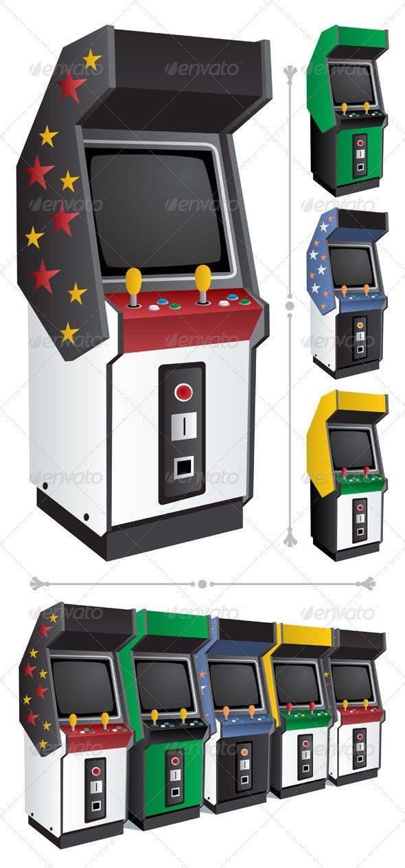 Arcade Games - Man-made Objects Objects
