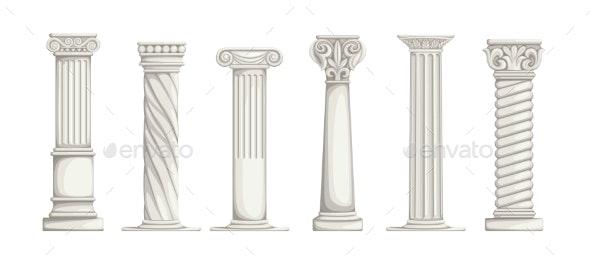 Roman Pillars - Buildings Objects