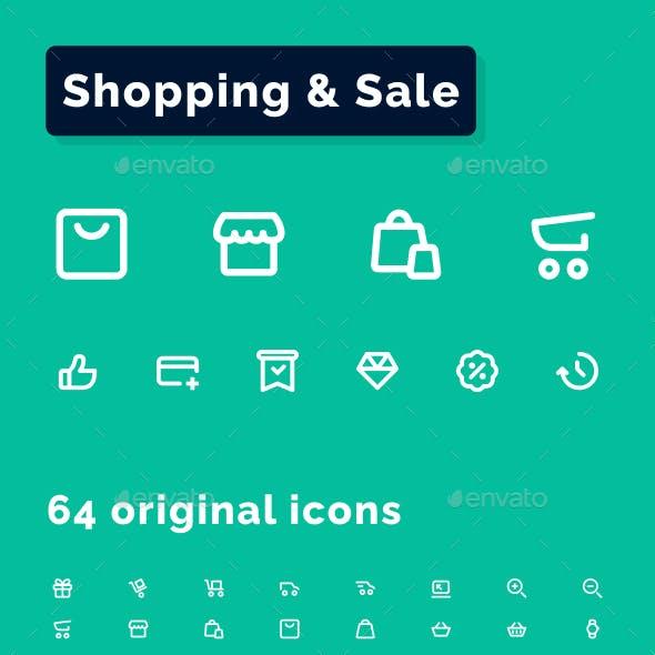 Shopping & Sale Icons Set