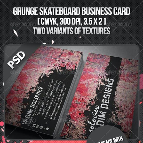 Grunge Skateboard Business Card