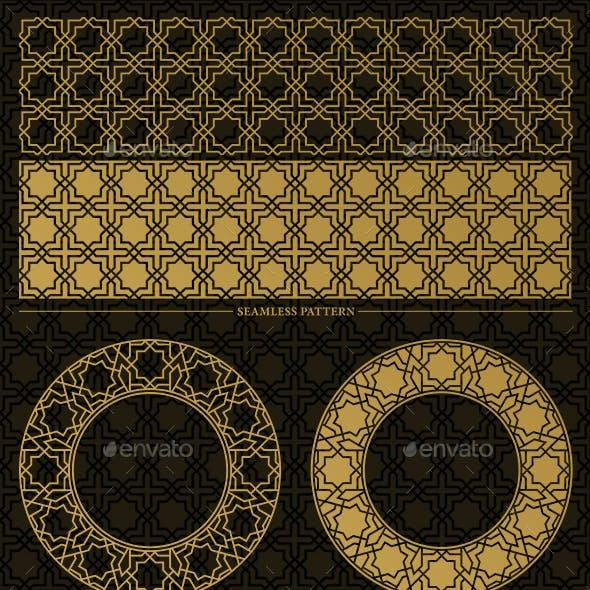 Geometric Design Elements (Octagram Ppattern)
