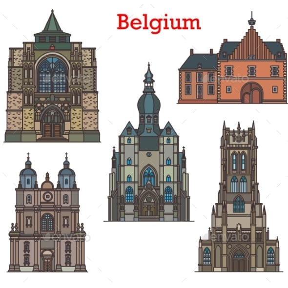 Belgium Landmarks Cathedrals and Old Architecture