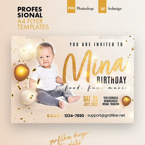 Baby Event Flyer Templates