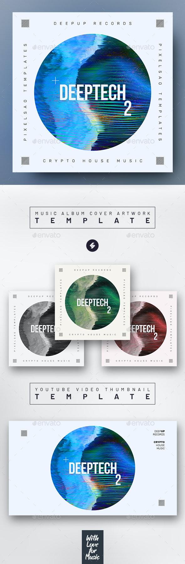 Deep Tech vol.2 – Music Album Cover Artwork Template - Miscellaneous Social Media