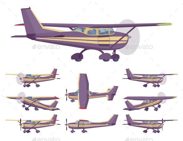 Light Aircraft Stripe Plane Livery Set - Man-made Objects Objects