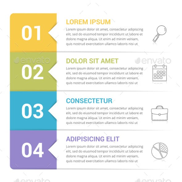Infographic Template with 4 Steps