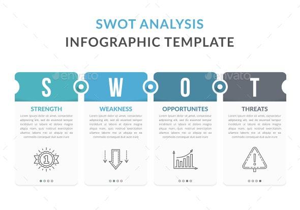 SWOT Analysis Diagram - Infographics
