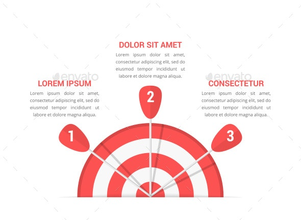 Target with Three Arrows - Infographics