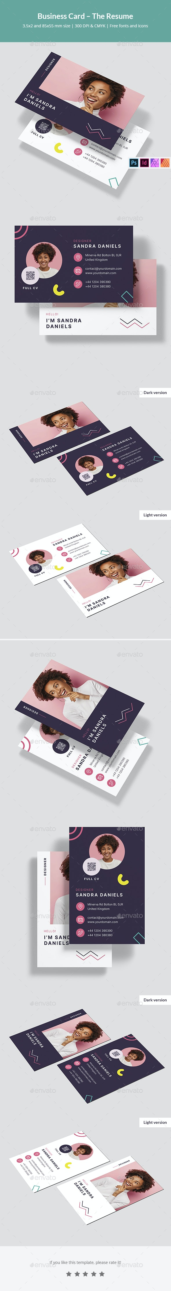 Business Card – The Resume - Creative Business Cards