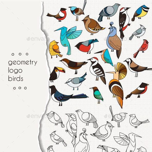 Geometric Bird Logos