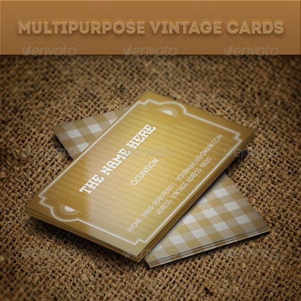 Multipurpose Vintage Cards
