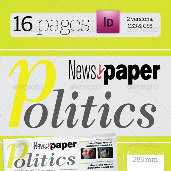 16 Pages Politics Supplement For News.Paper