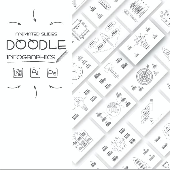 Doodle animated infographics
