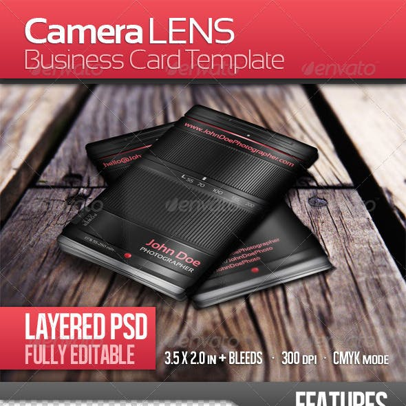 Photographer Lens - Business Card Template