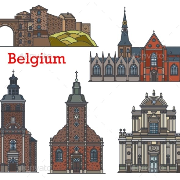 Belgium Landmark Church Cathedral Namur Stavelot