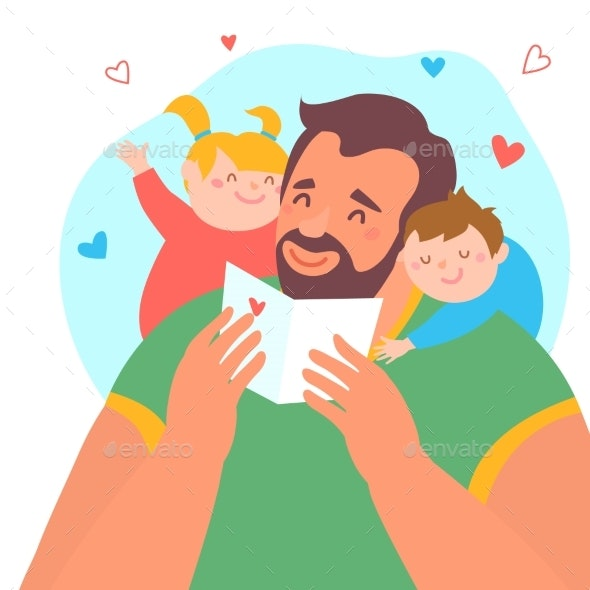 Happy Father's Day - People Characters