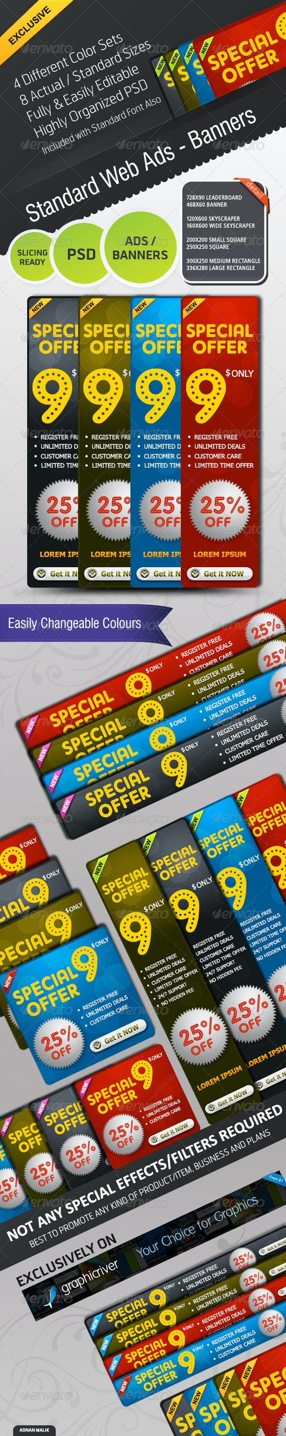 Standard Web Ads - Banners - Banners & Ads Web Elements