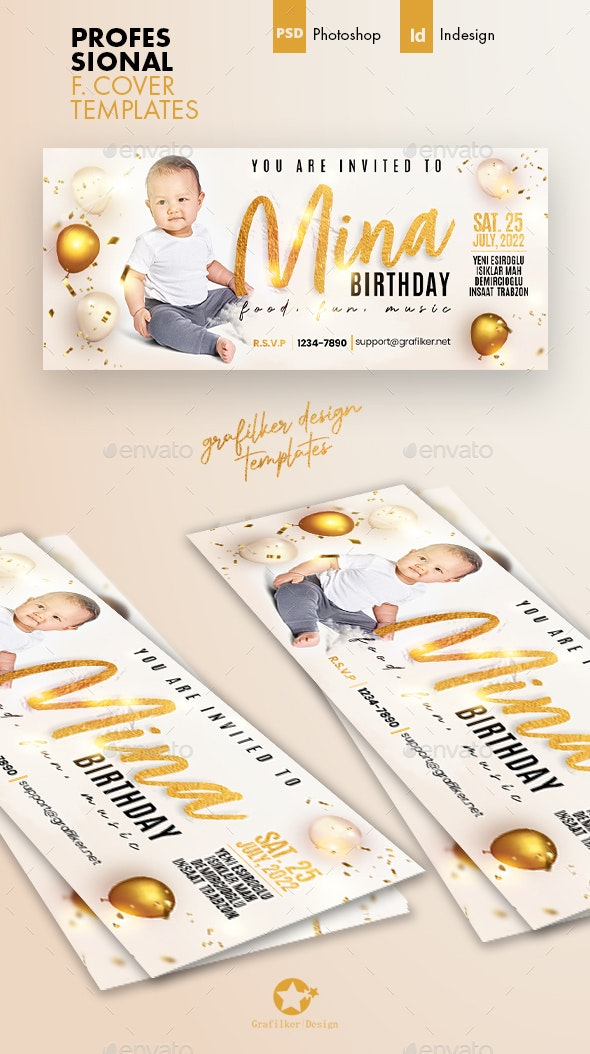 Baby Event Cover Templates - Facebook Timeline Covers Social Media