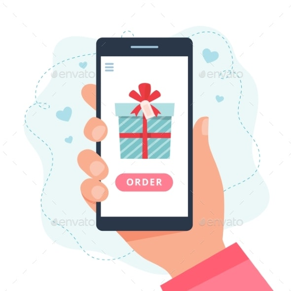 Online Shopping Gifts - Miscellaneous Illustrations