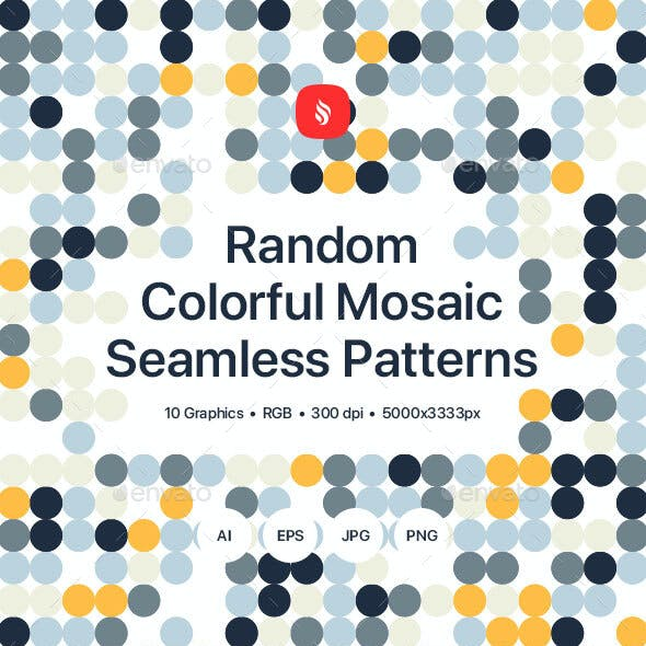 Random - Colorful Mosaic Seamless Patterns