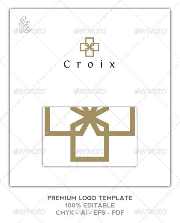 Gold Cross Logo - Jeweller Logo - Beauty Logo - Objects Logo Templates