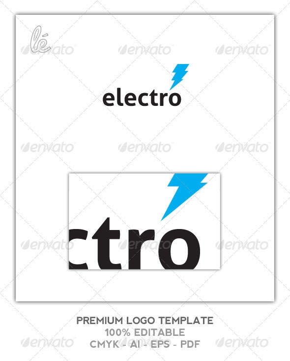 Electro Logo - Electrician Logo - Energy Logo  - Objects Logo Templates