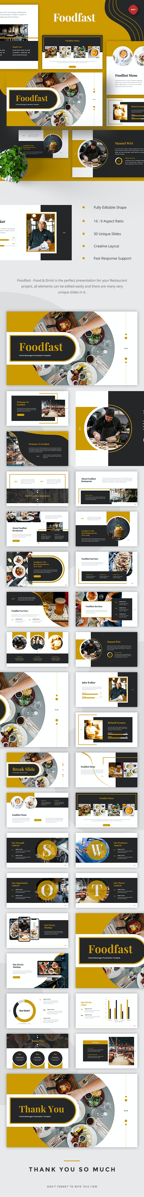 Foodfast - Food & Drinks Powerpoint - Business PowerPoint Templates