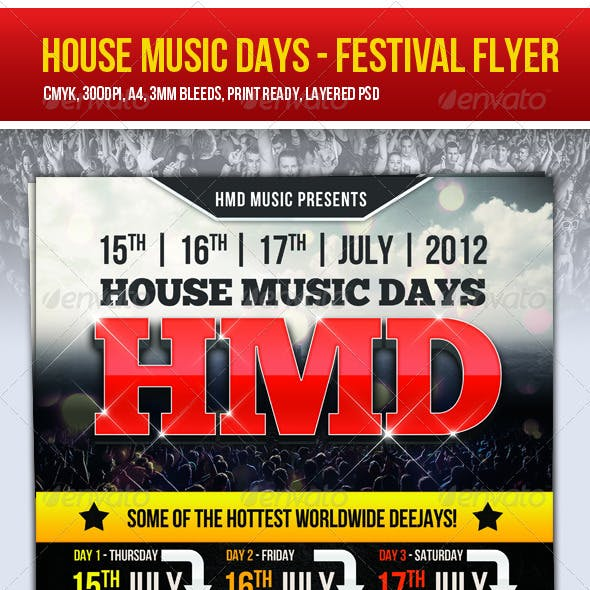 Festival Flyer House Music Days