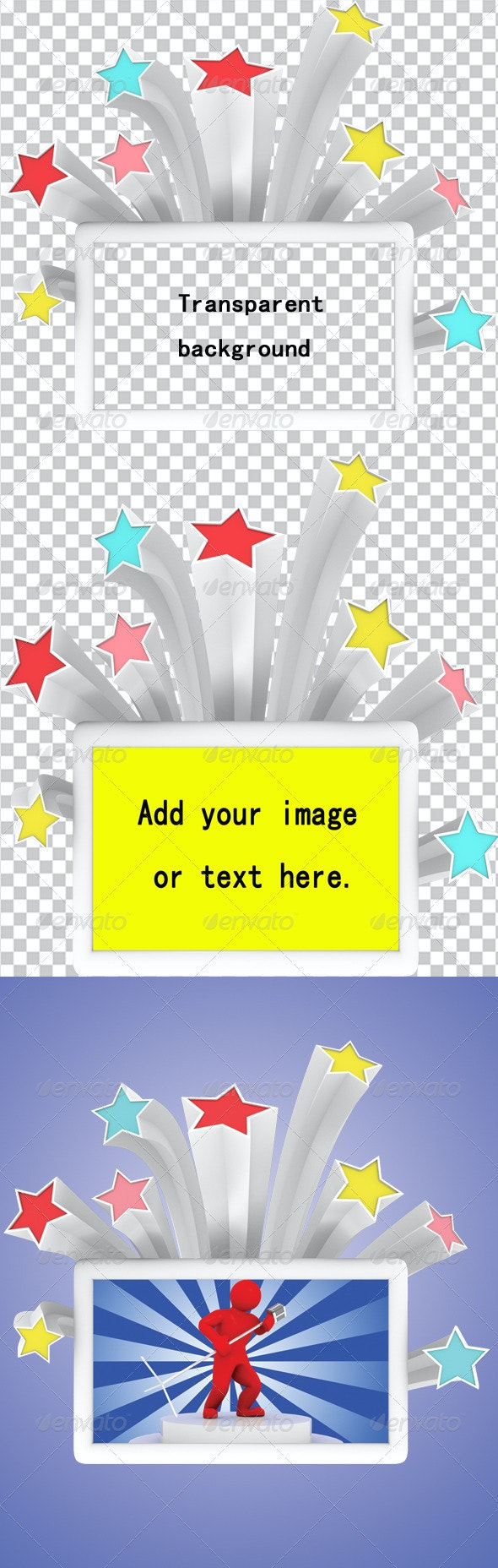 Star Style Picture Frame - Miscellaneous 3D Renders