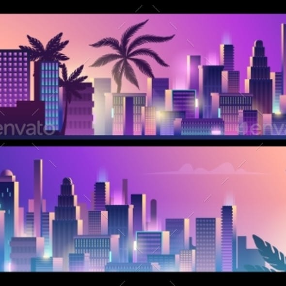 Neon City Banners