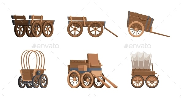 Wooden Wagon - Objects Vectors